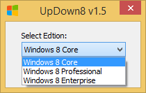 Windows versionunu düşür veya yükselt