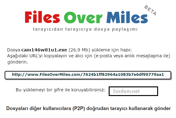 filesovermiles ile dosya paylaşımı