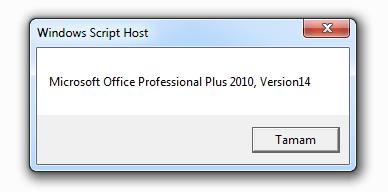 office versionu bulundu