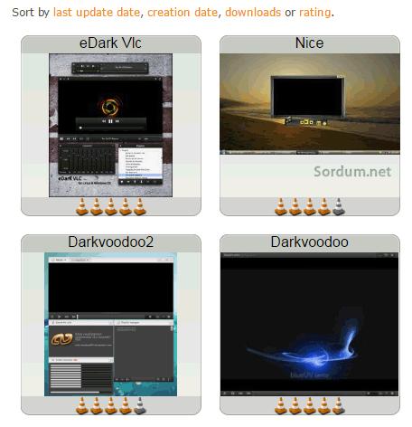 VLC tema değiştirme