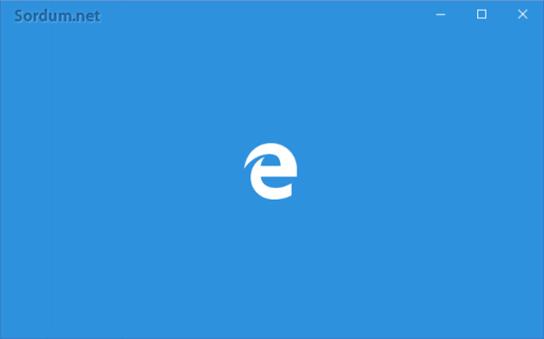 Edge açılış ekranı