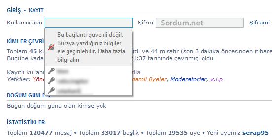 Firefox bu bağlantı güvenli değil uyarısı