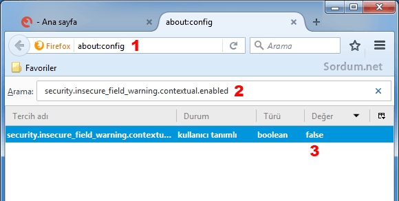 Firefox about configte işlem yapma