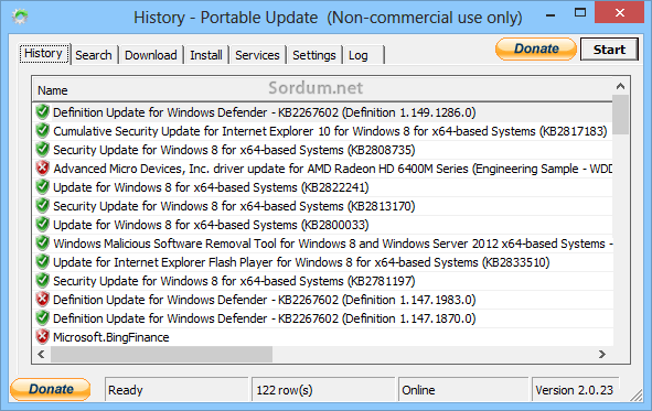 History portable update