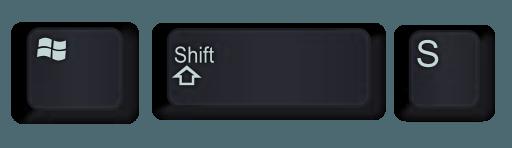 Windows Shift ve S tuş kombinasyonu