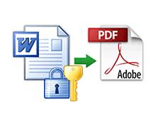 Word dosyasını şifreli Pdf yapmak
