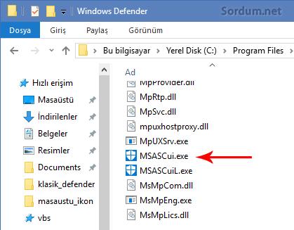msascui.exe dosyası