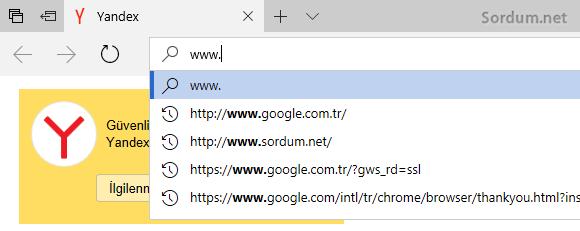 EDGE site önerileri yok