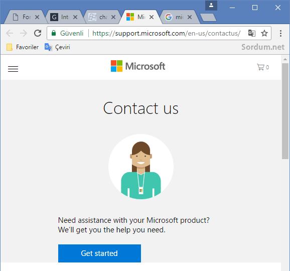 Microsoft ile chat yapma