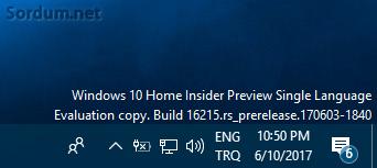 Windows 10 home single language önizleme sürümünde dil değiştirme