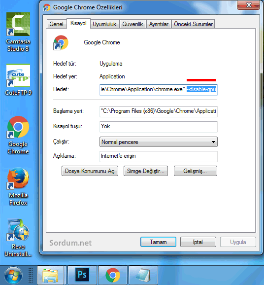 Chrome disable gpu