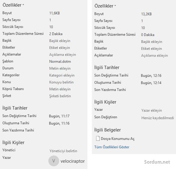 Microsoft word metadata