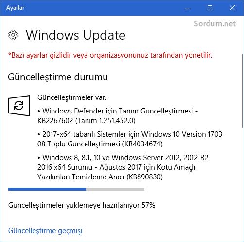 Güncelleştirmeler onarıldı