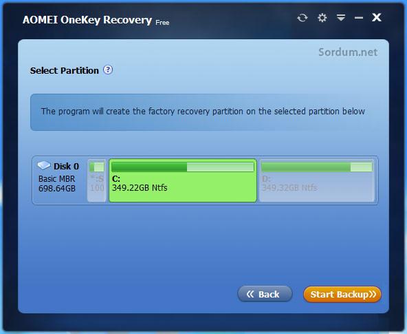 Windows dizinine fabrika ayarlarına döndür dizini
