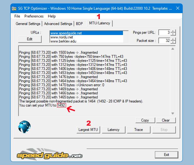 TCP optimizer ile Optimum MTU bulma