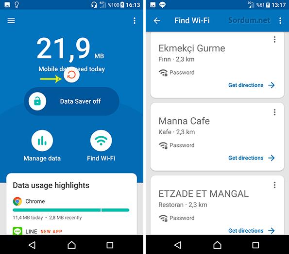 datally ile ücretsiz wifi bulma