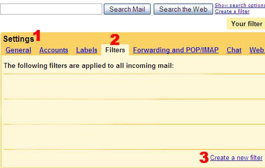 gmailde yeni filitre