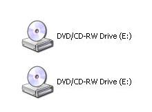 CDRom simgesi yada HDD ikonlarından biri kaybolduysa