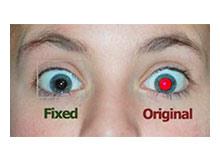 Resimlerdeki Kırmızı göz hatasını giderin
