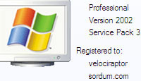 Xp de kayıtlı kullanıcı adı ve organizasyonu değiştirelim