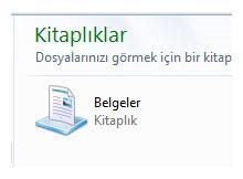 Windows gezginine tıkladığımızda belgelerim açılsın