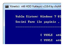 Sabit diskten Windows7 Kurma