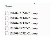 Minidump sayısına kısıtlama getirelim