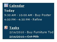 Outlook takvim ve yapılacak işleri masaüstünde gösterin