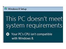 İşlemciniz Windows 10 veya 8 i destekliyormu ?
