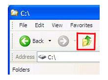 Windows 7 explorerde xp deki gibi bir üst klasöre çıkalım