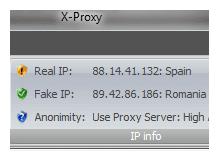 X-Proxy tek tık ile ip nizi değiştirin yasak aşın
