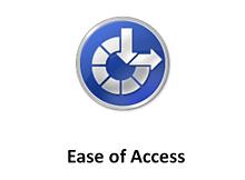 Erişim kolaylığı ikonuna program bağlama