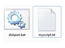 .bat dosyası ile diskpart komutları