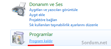 program kaldır