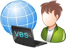 vbs admin yetkisinde çalışsın