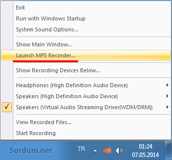 virtual audio streaming record