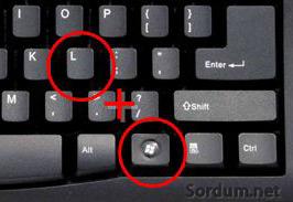 Windows+L kısayolu