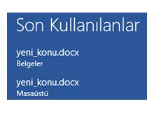 Office 2013 Son kullanılan belgeleri göstermesin
