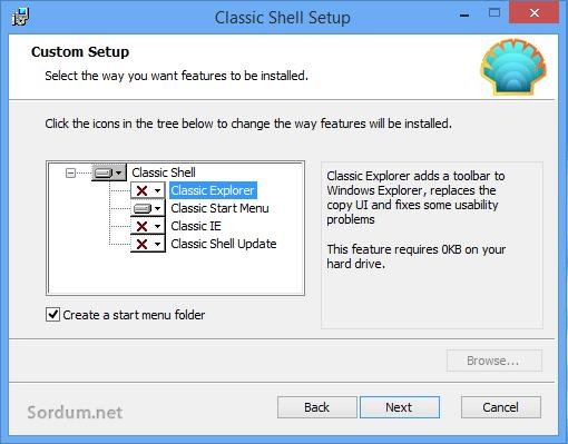 Classic shell kurulum arayüzü