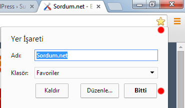 Chrome favori ekleme