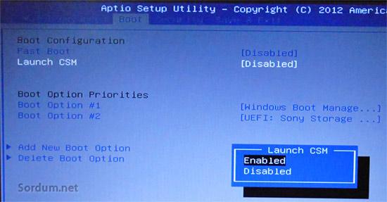 asus launch csm enable