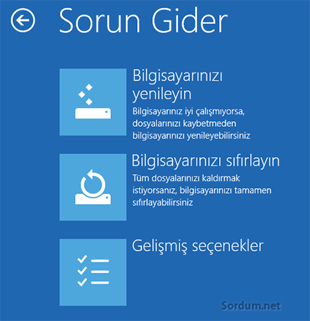 Windows 8.1 sorun gider