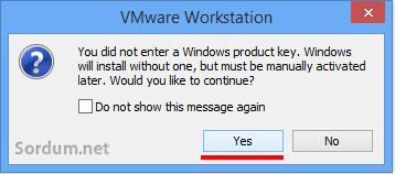 wmvare yeni sistem uyarısı ekranı