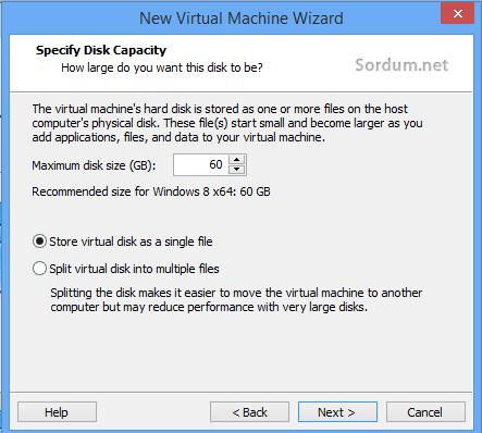 wmvare sanal sistem tek dosyada