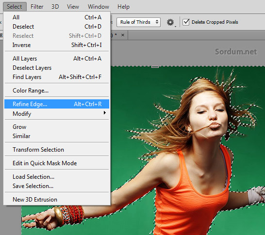 Photoshop refine edge