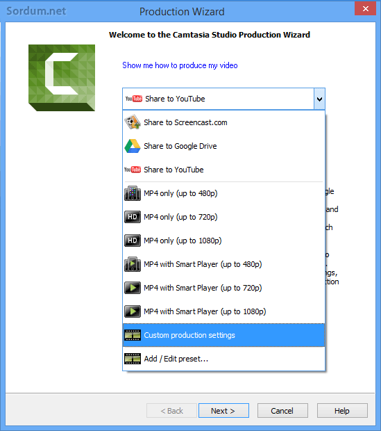 camtasia custom production
