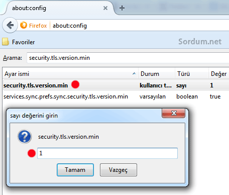 Firefox security TLS