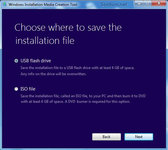 windows 8.1 kurulum medyası usb veya Iso