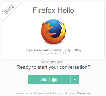 firefox hello karsi taraf