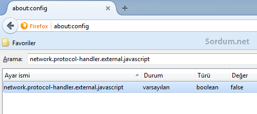 Firefox network protocol handler